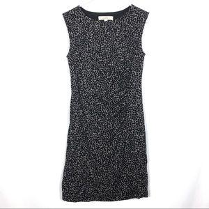 Loft Knit Dress Gray Black Animal Print Sleeveless